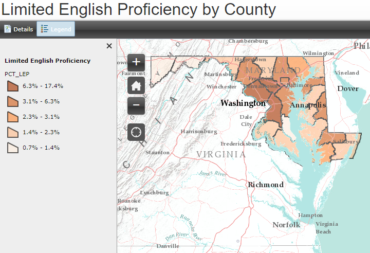 English Proficiency by Jurisdiction